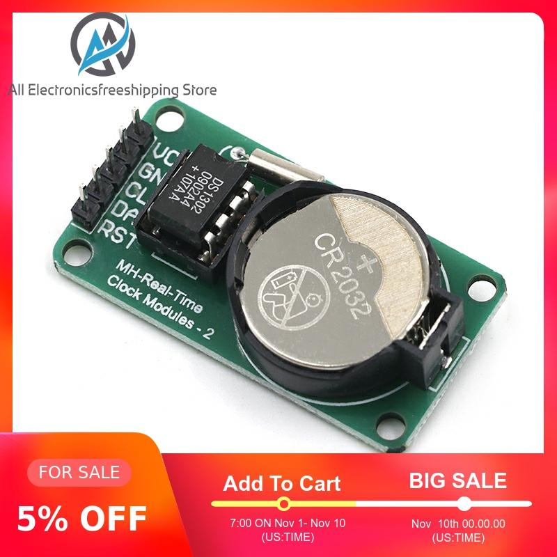New Arrival RTC DS1302 Real Time Clock Module For AVR ARM PIC SMD For Arduino