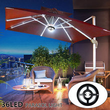 2.5W LED Patio Umbrella Light Garden Outdoor Campsite Parasol Lights Cordless Camping Tent Pole Lighting Night Emergency Lamp