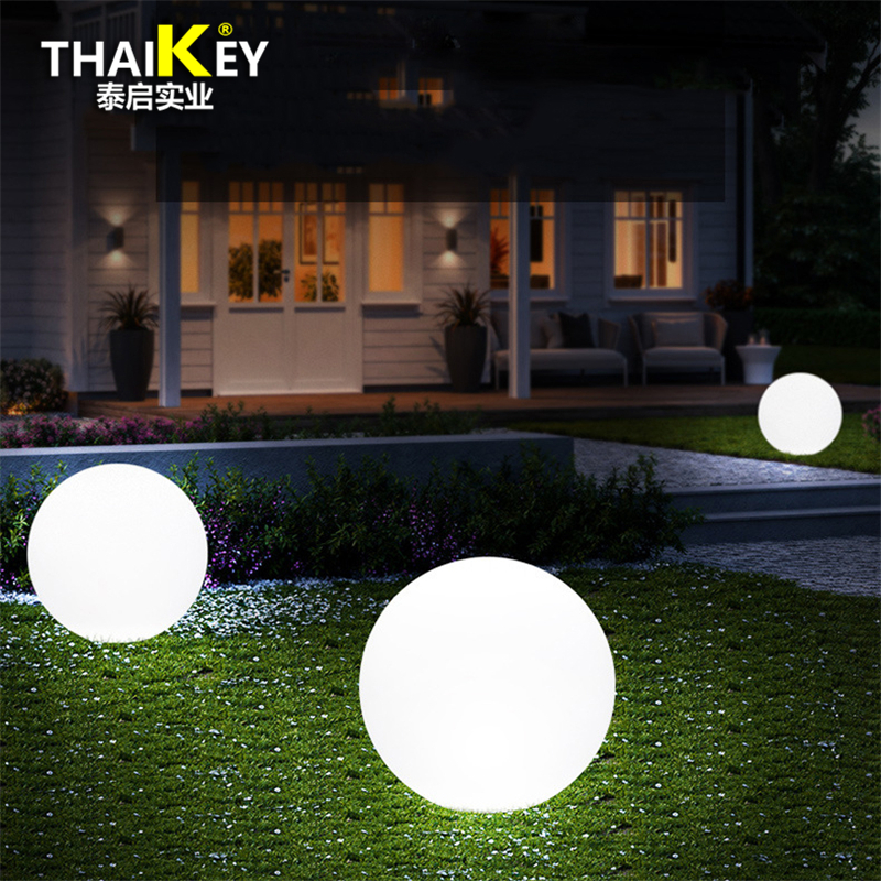 4pcs*Dia40cm Dc5V 1A USB Chargeable colors changeable with wireless remote/ led landscape ball lamp/ Glowing globe sphere