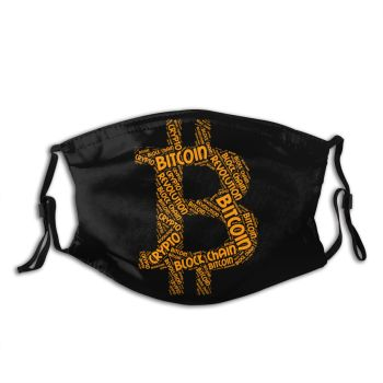 Bitcoin Revolution Crypto Non-Disposable Face Mask Dust  1