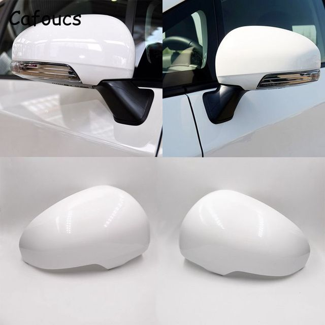 Cafoucs For Toyota Reiz Prius 2010 2011 2012 Car Rear View Mirror Cover Decoration Accessories