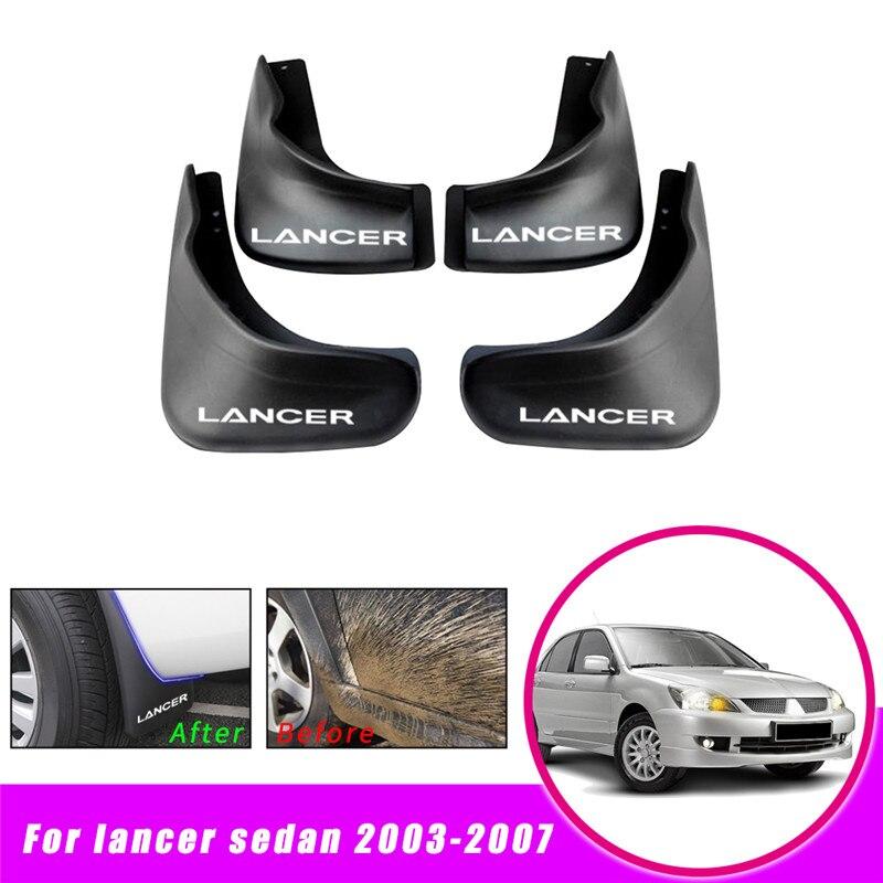 Автомобильные Брызговики для Mitsubishi Lancer Sedan 2003 2007 Брызговики для Fender автомобильные аксессуары 4 шт