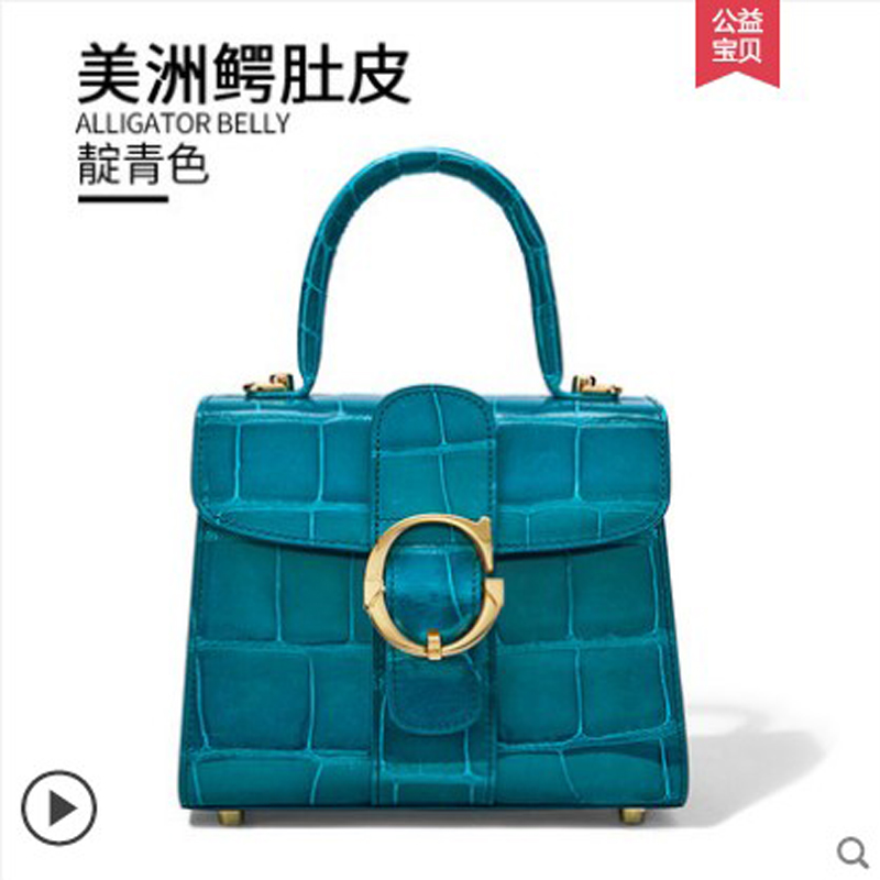 gete  new crocodile skin Ladys handbag Alligator belly pack Female bag women