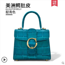 gete  new  crocodile  skin Lady's handbag  Alligator belly pack  Female bag women handbag gete 2016 new import thailand siamese real crocodiles belly female shoulder bag handbag inclined shoulder women shell bag page 7