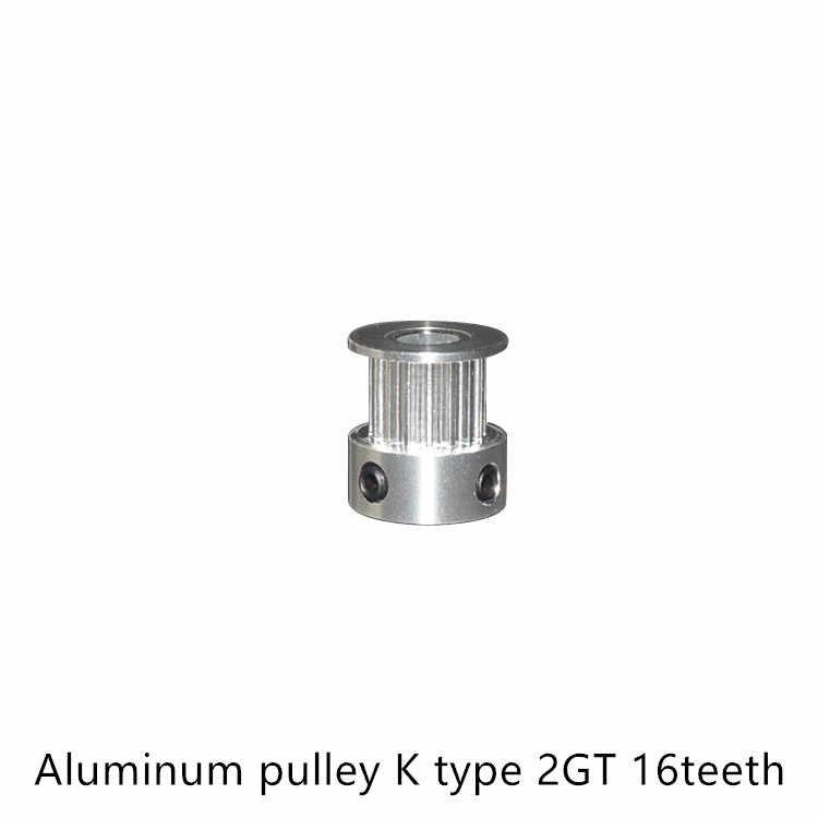 GT2 Timing Pulley 16 teeth BORE 3.17mm 4mm 5mm 6mm 6.35mmสำหรับความกว้าง 9 มม.10 มม.2GT Synchronousเข็มขัดขนาดเล็กbacklash 16 ฟัน