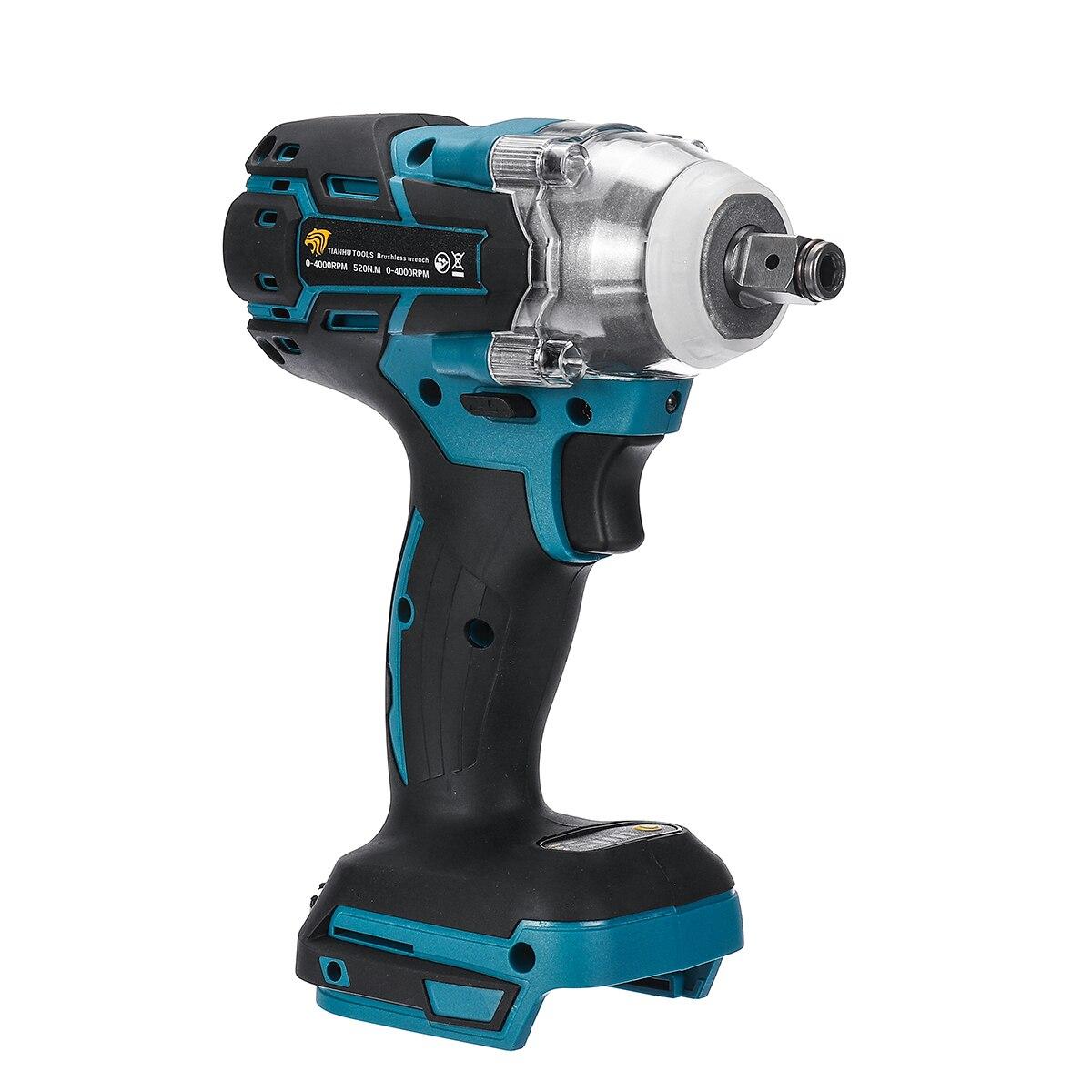 18 v chave de impacto sem escova sem fio chave elétrica ferramenta elétrica 520n. m torque recarregável para bateria makita dtw285z