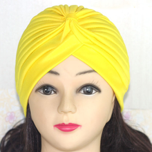 Mulheres Stretchy Quimio Bandanas Hijab Turbante Headband Urdidura Muculmano Chapeu Feminino Atada Cap Indiano Adulto Cabeca En