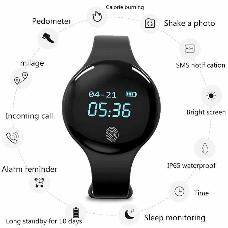 Nieuwe Bluetooth Smart Horloge Voor IOS Android Vrouwen Sport Intelligente Stappenteller Fitness Armband Horloges Voor iPhone Wekker Mannen