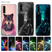 Uyellow Silicone Phone Case For Huawei P10 P20 P30 Lite Pro Hawei Mate 10 20 lite P Smart Plus 2019 Starry Animal Wolf