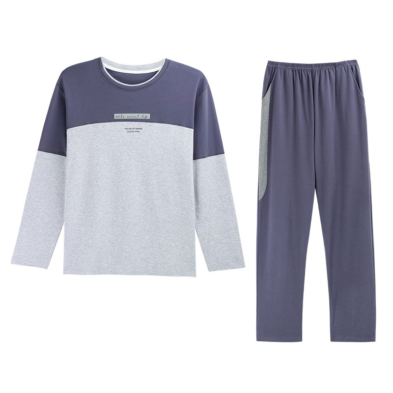 Winter Cotton Pajamas For Men Letter Sleepwear Pyjama Homme Casual Sleep&Lounge Autumn Pyjamas Suit Plus Size M-4XL Pajama Sets