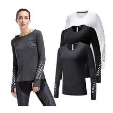 Женская спортивная одежда KACIGEYA для фитнеса, топы с длинным рукавом, футболка, быстросохнущая, для спортзала, йоги, женская одежда для спортзала, бега, пробежек, рубашки