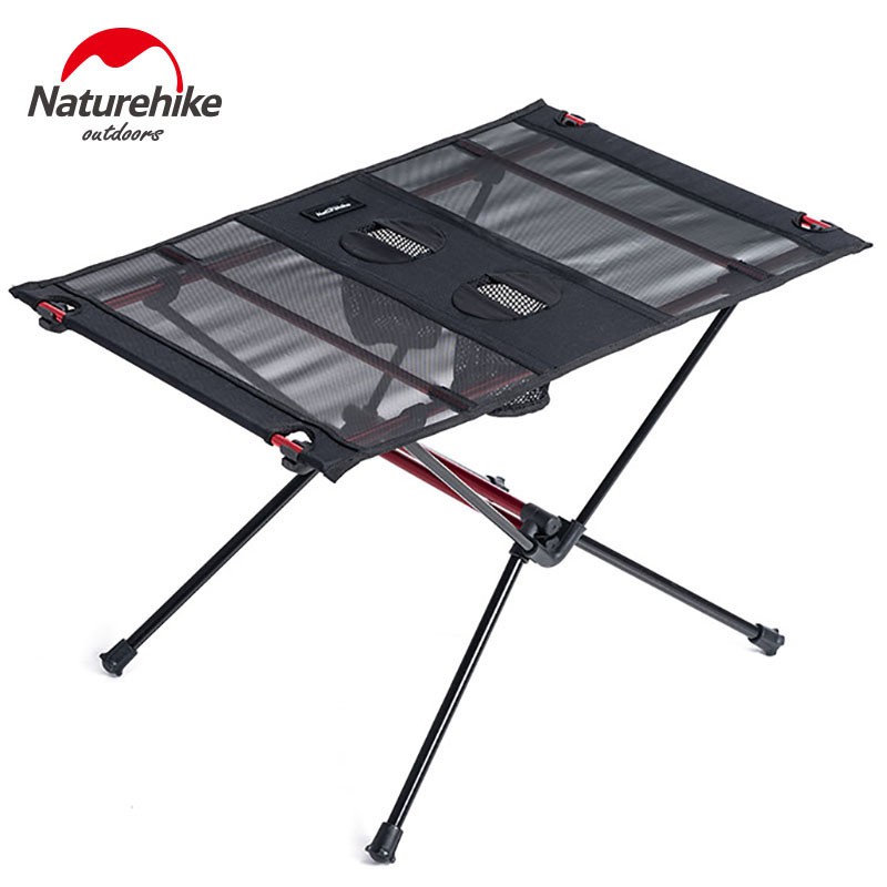 Naturehike Ultralight Collapsible Table Aluminum Alloy Folding Camping Table Portable Roll Up Outdoor Picnic Table Fishing Desk