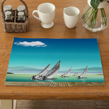 Placemats for Kitchen TableSolid for Table Mat Dining Place Mats Polyester Kitchen Accessories Non-slip Mats Decorative