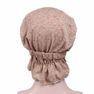 Image 2 - Женский модный тюрбан из 100% хлопка, мусульманские повязки на голову, аксессуары для повязки
