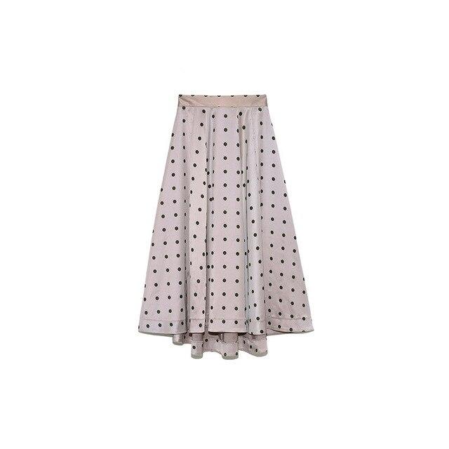 Neploe Elegant French Style Chic Polka Dot Women Skirts 2021 Autumn Winter New All-match Jupe High Waist Zip A-line Femme Skirt 5