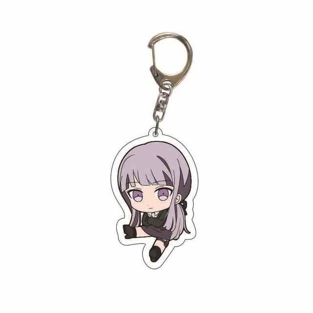 Danganronpa Double Sided Acrylic Keychain Fans Collection Anime Game Figures Nanami ChiaKi Nagito Komaeda Key Chain Cute Trinket 5