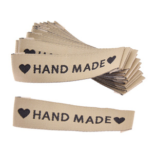 50pcs Hand Made Letter Washable Cloth Labels For DIY Quilting Craft Colthes Collection Bags Tags Decoration Materials(China)