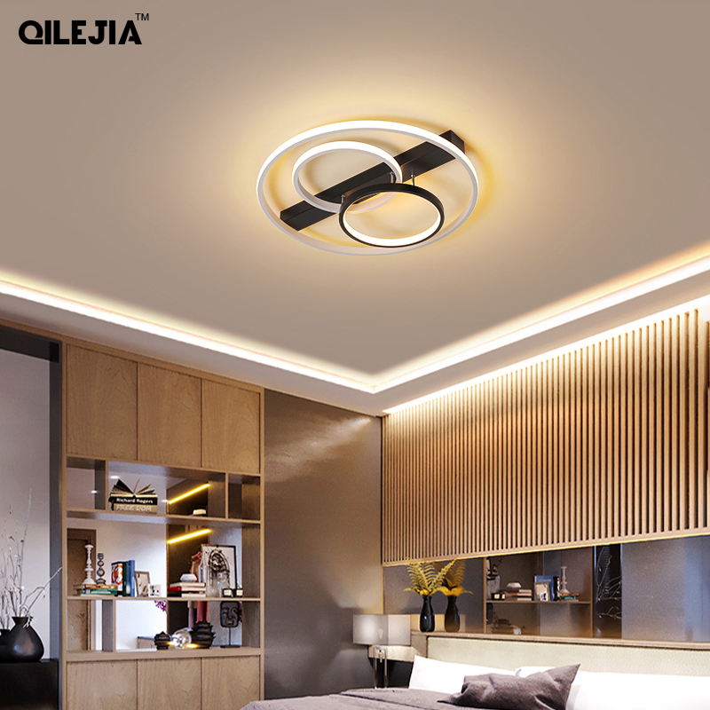 Led chandeliers for living room bedroom dining room kitchen study room round lamp <font><b>holder</b></font> dimmable with <font><b>remote</b></font> control AC85-260V image
