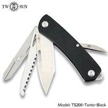 TWOSUN Knives 14C28N blade Multifunction Survive Multi Tool Purpose Pocket Knife