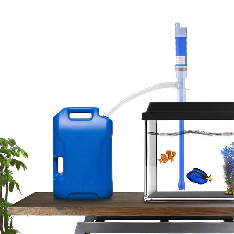 Aquarium Cleaner Fish Tank Pump Filter Siphon Gravel Suction Pipe Filter Vacuum Water Change Pump Aquarium Cleaning Tools