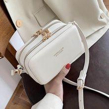 Sacs à main de styliste de marque coréenne, sac à bandoulière texture boîte, petit sac carré en cuir PU, sacoche tendance sauvage, nouvelle collection 2020