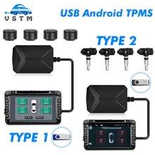 VSTM TPMS Auto Reifendruck Alarm Monitor System Display Intelligente Temperatur Warnung mit 4 sensoren