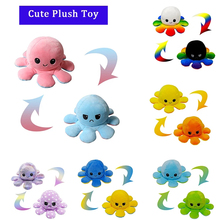 Double-Sided Plush Doll Kids Soft Simulation Strange Toy Ornaments Pulpo Doll Kids Birthday Christmas Gift Decorations for Home