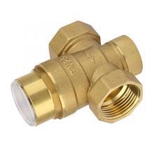Válvula reductora de presión de 1 pulgada, regulador de presión de agua de latón con medidor de calibre, válvula de bola