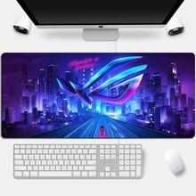 ASUS alfombrilla de ratón grande para juegos, alfombrilla de goma Otaku para teclado de la República de jugadores, Borde de bloqueo, mesa de oficina para portátil