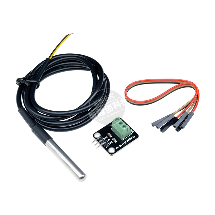 DS18B20 Waterproof Temperature Sensor Module Digital Thermometer Probe + Terminal Adapter Kit