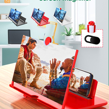 10 дюймов 3D мобильный телефон Экран увеличитель HD видео усилитель Подставка Кронштейн с фильм игры увеличительное складной чехол для телефо...