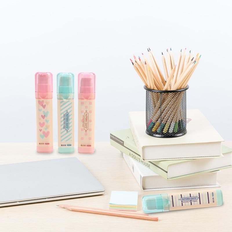 Hobby Replacement Eraser Korean Version Of The 3-layer Student Eraser Multi-color Stripe Cute Eraser