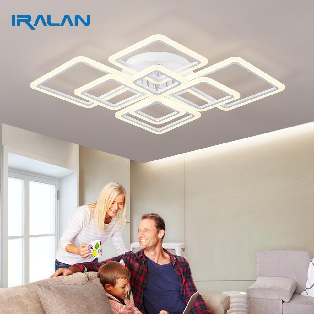 Iralan moderno led acrílico luz de teto iluminação quadrada interior para sala estar quarto cozinha sala jantar arte deco lâmpadas led pc