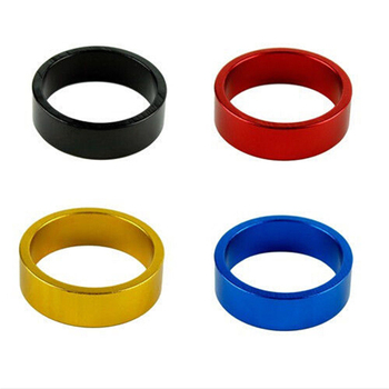 4 Colors Aluminum Mountain Road Bike Bicycle Cycling Headset Stem Spacer Bike Parts Accessories 10 mm Wholesale image