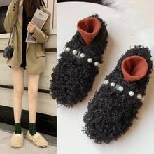 Женские зимние бархатные туфли женская обувь на резиновой подошве