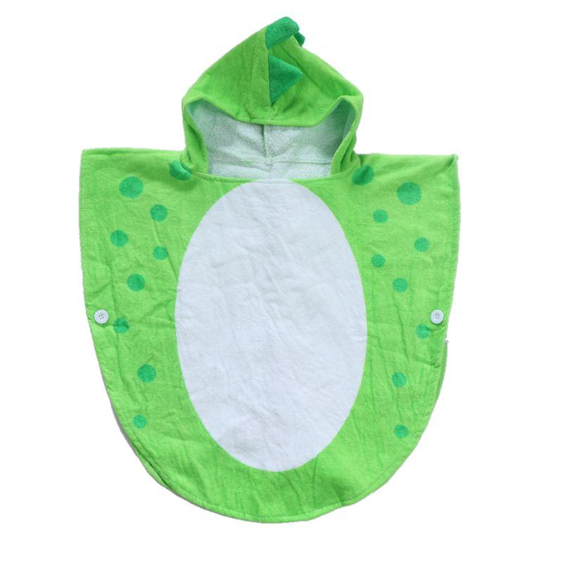 Детское банное полотенце с капюшоном и лапой динозавра; детское пляжное полотенце; купальный халат для младенцев - Цвет: Зеленый