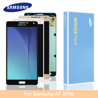 Original Super Amoled LCD For Samsung Galaxy A7 2015 A7009 A700H A700F A700S A700K LCD Display Touch Screen Digitizer Assembly