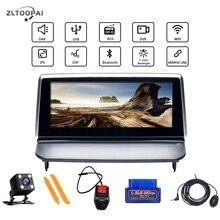Android 10.0 Car Multimedia Player วิทยุออโต้วิทยุนำทาง GPS สำหรับ VOLVO C40 S40 C30 C70 2006 2012 พวงมาลัยควบคุม IPS