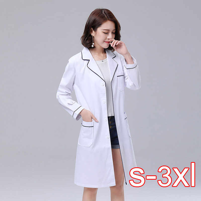2019 Korean Version Of The Summer Short-sleeved White Coat Doctor Nurses Beauty Salon Tattoo Designer Medical Overalls Custom