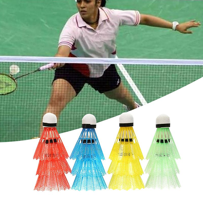 12pcs Colorful Plastic Badminton Portable Durable Training Ball Outdoor Sports Activities Supplies For Shuttlecock