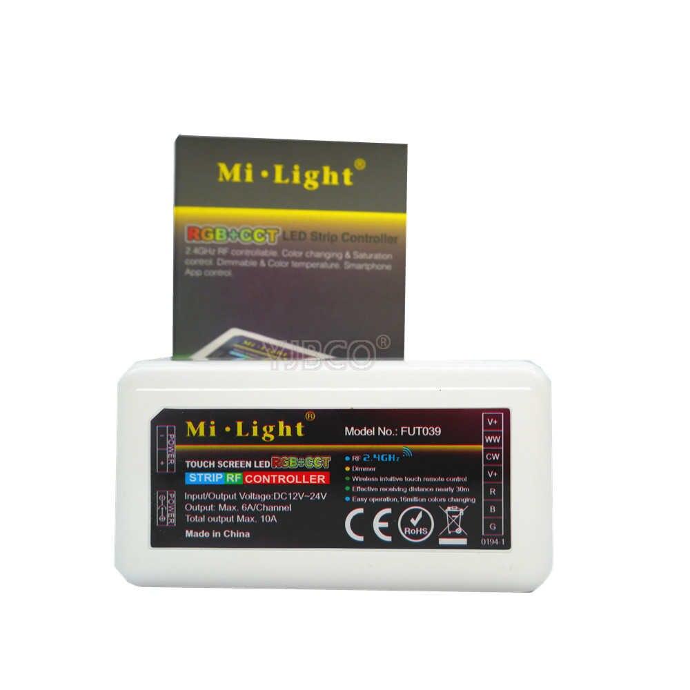 Miboxer 2.4G RF sans fil à distance couleur unique température de couleur rvb RGBW rvb + CCT led contrôleur de bande WiFi iBox lumière intelligente