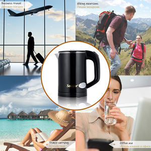 Image 2 - 0.6L Travel Kettle Mini Electric Kettle Stainless Steel Cordless Portable 600W Heating Electric Water Boiler Teapot Pot Sonifer