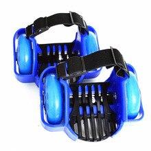 Красочные мигающие роликовые ролики на пятку Flash два колеса каблук ролик Регулируемый просто обувь для роликов, Скейтборда для детей и взрослых