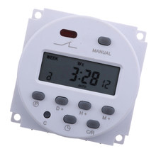 12V DC LCD Digital Programmierbare Control Power Timer Zeitrelais hot, weit verbreitet, um die Led lampe(China)