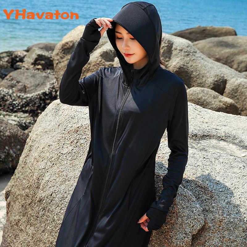 אופנה נשים מעיל רוח שמש הגנת מעיל גדול גודל שמש הוכחת מעיל מעיל קיץ ברדס קרם הגנה מעיל ארוך דק חוף מעיל