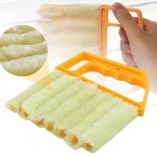 Limpeza útil do espanador do condicionador de ar da escova da janela de microfibra com pano de limpeza cego lavável da lâmina veneziana 40p