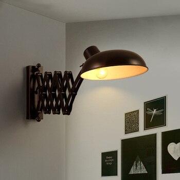 Американский выдвижной настенный светильник в стиле ретро, промышленный настенный светильник для кухни, гостиной, с длинной ручкой, винтаж...