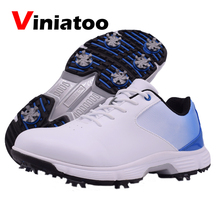 New Professional Waterproof Golf Shoes Big Size 39-48 Anti Slip 7spikes Golf Sneakers Outdoor Light Weight Walking Sneakers