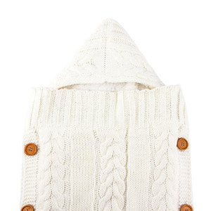 Image 4 - เด็กทารกเด็กแรกเกิดกระเป๋าฤดูหนาวขนแกะ Swaddle ผ้าห่มขนาดใหญ่รถเข็นเด็ก Wrap สำหรับชายหญิงถัก Sleep Sack