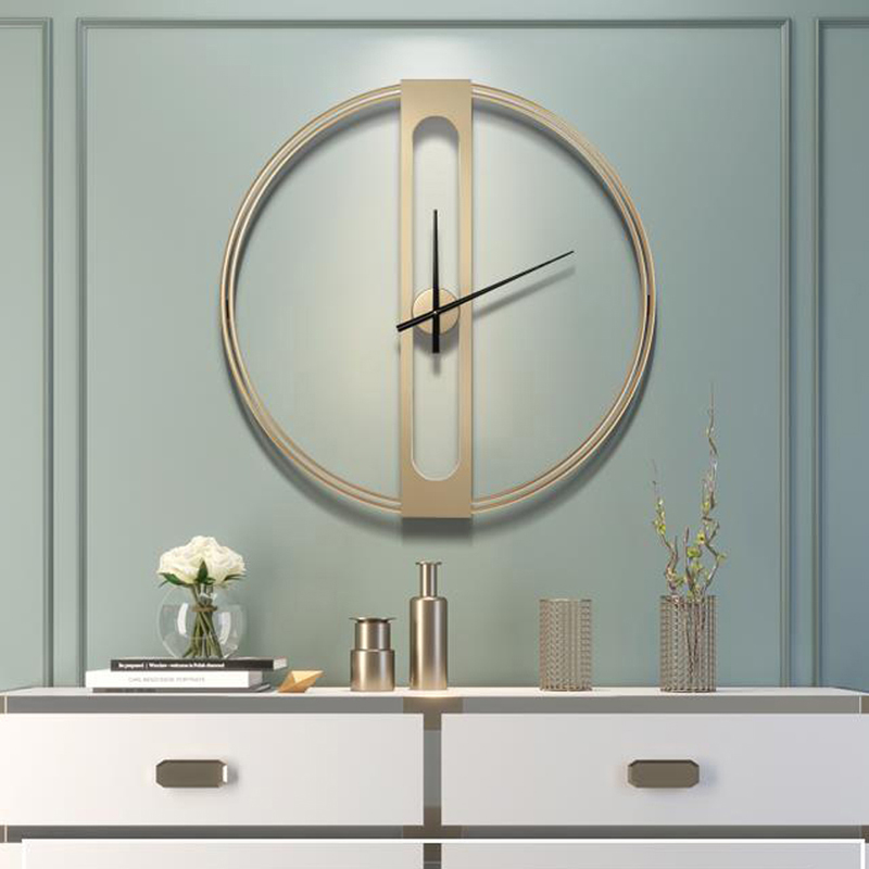 Grande horloge murale en métal de luxe Design moderne nordique Simple 3D décoration suspendue montre grandes horloges murales décor à la maison 70 cm - 5